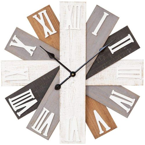 Hometime Wall Clock Wooden Multi Finish 60cm