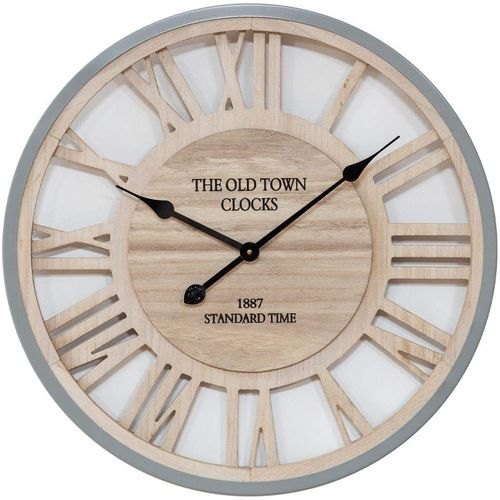 Hometime Wall Clock MDF Cut Out Roman Numerals 60cm