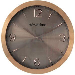 Hometime Aluminium Wall Clock Copper/Shimmer 30cm