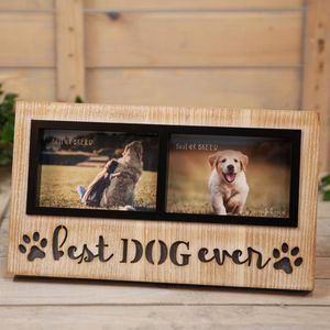 "Best of Breed Light Up Double Photo Frame 6x4"" - Best Dog Ever"