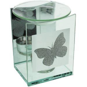 Hestia Glass Oil Burner (3 Butterfly Design)