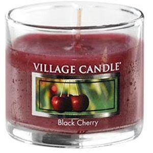 Village Candle Mini Glass Votive - Black Cherry