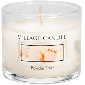 Village Candle Mini Glass Votive - Powder Fresh