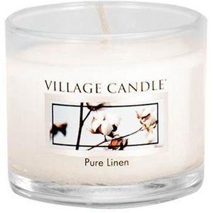 Village Candle Mini Glass Votive - Pure Linen