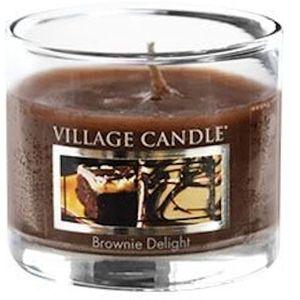 Village Candle Mini Glass Votive - Brownie Delight