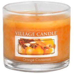 Village Candle Mini Glass Votive - Orange Cinnamon