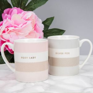 By Appointment Double Mug Set - Foxy Lady & Silver Fox