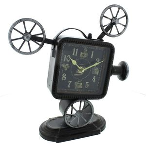 Hometime Metal Mantel Clock - Classic Film Projector