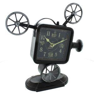 Hometime Metal Mantel Clock (Film Projector Arabic)