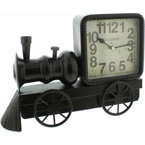 Hometime Metal Mantel Clock - Steam Train