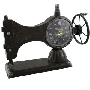 Hometime Metal Mantel Clock - Sewing Machine