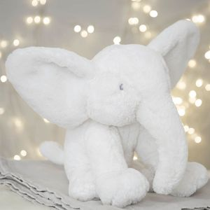 Juliana Bambino Large White Plush Elephant 31cm
