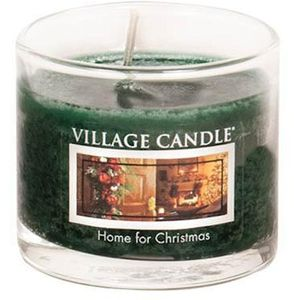Village Candle Mini Glass Votive - Home for Christmas