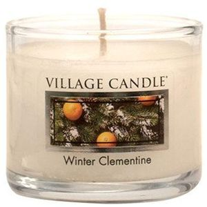 Village Candle Mini Glass Votive - Winter Clementine