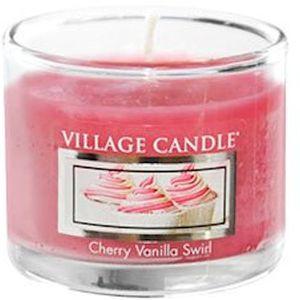 Village Candle Mini Glass Votive - Cherry Vanilla Swirl