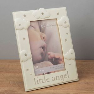 "Bambino Resin Cloud Pattern Frame 4"" x 6"" Little Angel"