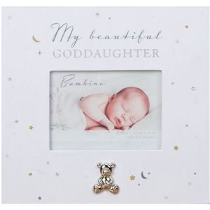 "Bambino Paper Wrap God Daughter 4"" x 3"" Photo Frame"