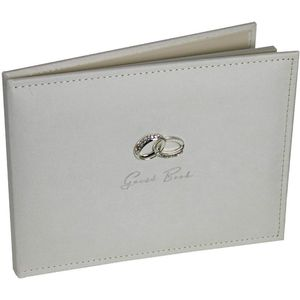 Amore Suede Wedding Guest Book