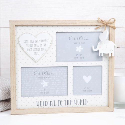 Petit Cheri Baby Multi Aperture Photo Frame - Welcome to the World