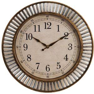 Hometime Round Plastic Wall Clock Arabic Dial 40cm