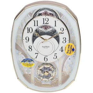 Rhythm Magic Motion Musical Clock with Swarovski Crystals - Rotating Pendulum