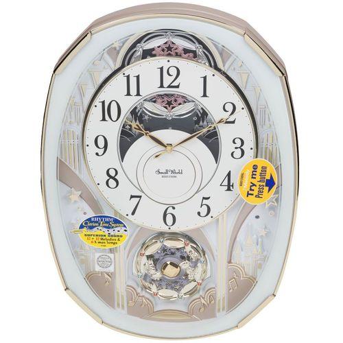 Rhythm Magic Motion Musical Clock with Rotating Pendulum & Swarovski Elements