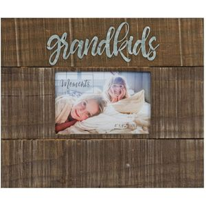 "Moments Natural Finish Wooden Frame 4"" x 6"" Grandkids"