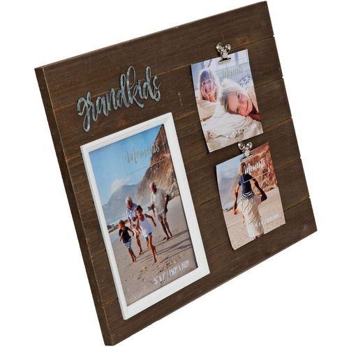 "Moments Multi Aperture Clip Frame 5"" x 7"" - Grandkids"
