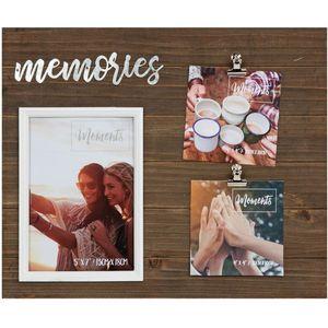 "Moments Multi Aperture Clip Frame 5"" x 7"" (Memories)"