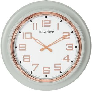 Hometime Round Wall Clock (Grey / Rose Gold 45cm)
