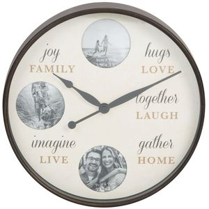 Hometime Round Photo Wall Clock - Family