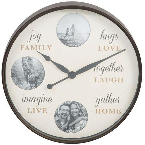 Hometime Round Photo Wall Clock - Family