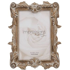 "Juliana Impressions Antique Carved Wood Finish Photo Frame 4"" x 6"""