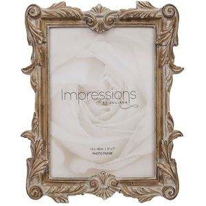 Juliana Impressions Antique Carved Wood Finish Photo Frame 5x7""