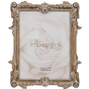 "Juliana Impressions Antique Carved Wood Finish Photo Frame 6"" x 8"""