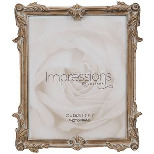 "Juliana Impressions Baroque Antique Carved Wood Finish Photo Frame 8"" x 10"""