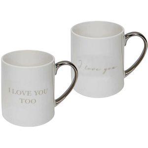 Amore Mug Gift Set Pair - I Love You.. Too