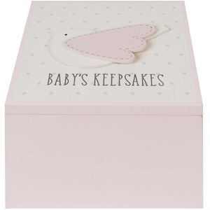 Petit Cheri Baby Keepsake Box - Babys Keepsakes (Pink)