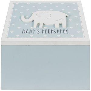 Petit Cheri Baby Keepsake Box - Babys Keepsakes (Blue)