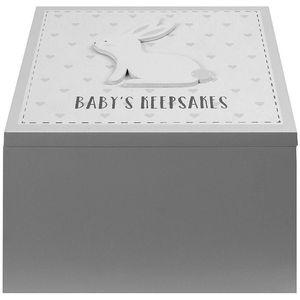 Petit Cheri Baby Keepsake Box - Babys Keepsakes (Grey)