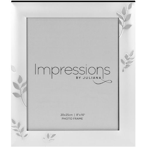 "Juliana Impressions Two Tone Silver Plated Leaf Design Photo Frame 8"" x 10"""