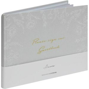 Our Wedding Day Grey Floral Guestbook - 40 Inner Page