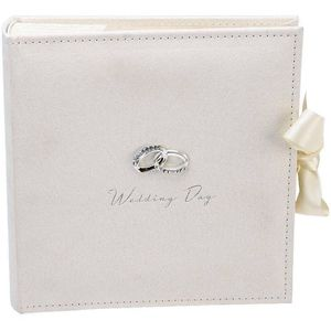 "Amore Suede Wedding Photo Album Holds 100 7"" x 5"" Prints"