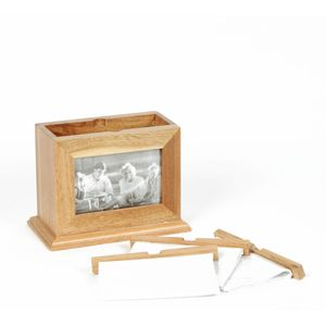 Wooden Photo Frame Box With Pull Out Albums