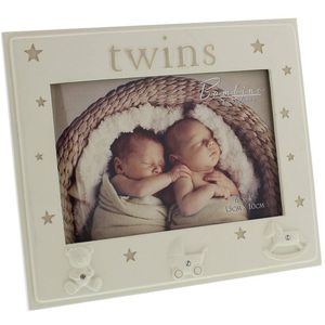 "Juliana Bambino Resin Photo Frame 6x4"" - Twins"