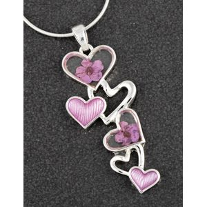 Equilibrium Eternal Flowers Tumbling Hearts Necklace