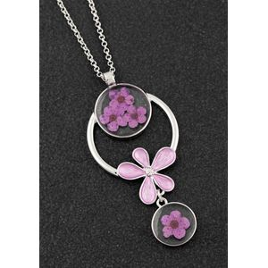 Equilibrium Eternal Flowers Modern Necklace - Pink