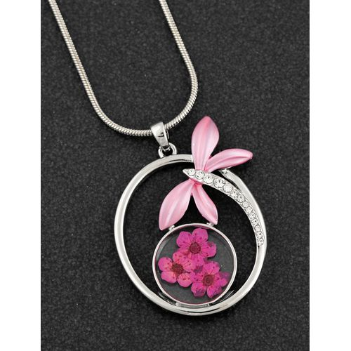 Equilibrium Eternal Flowers cCollection Silver Plated Necklace - Dragonfly