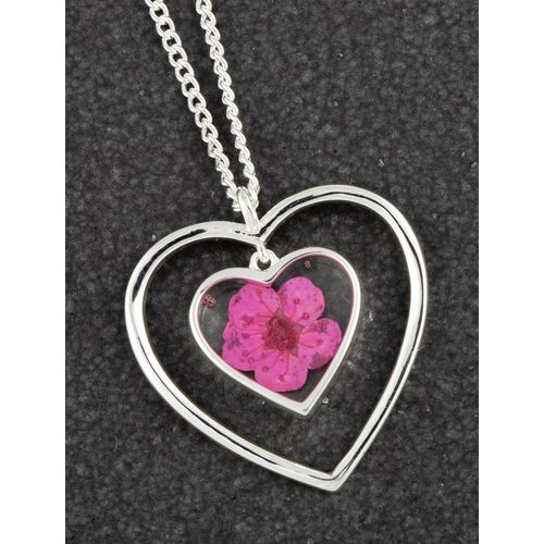 Equilibrium Eternal Flowers Heart Necklace - Pink