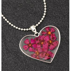 Equilibrium Eternal Flowers Large Heart Necklace - Pink
